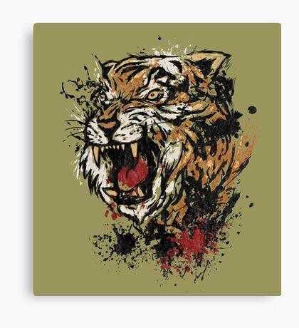 Splattered Tiger Canvas Print