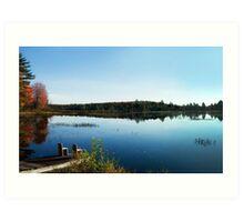 Morning Lake Art Print