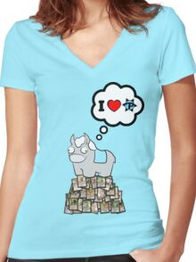 I Heart PucaTrade Women's Fitted V-Neck T-Shirt