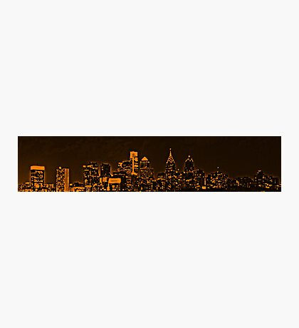 Philadelphia Skyline Panorama - Flyers Photographic Print