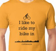 Biking in Copenhagen Unisex T-Shirt