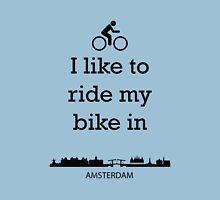 Biking in Amsterdam Unisex T-Shirt