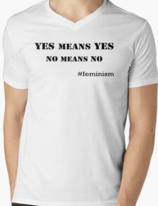 Yes means Yes, No means No Mens V-Neck T-Shirt