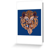 beast Greeting Card