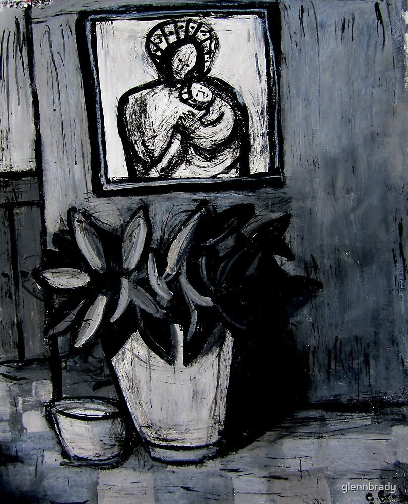 madonna and child,pot plant and dog bowl by glennbrady