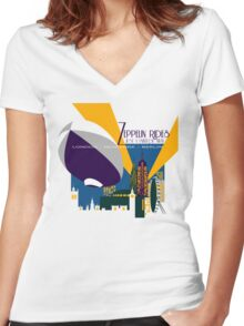 Zeppelin Rides are Just a Universe Away Women's Fitted V-Neck T-Shirt