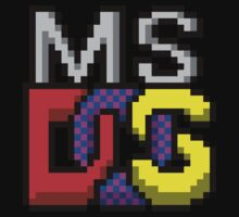 MS-DOS Icon Retro Pixel Computer Symbol Kids Tee