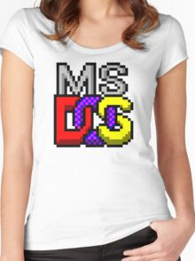 MS-DOS Icon Retro Pixel Computer Symbol Women's Fitted Scoop T-Shirt