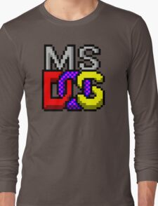 MS-DOS Icon Retro Pixel Computer Symbol Long Sleeve T-Shirt