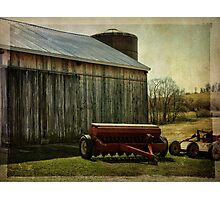 Barn by the road Photographic Print
