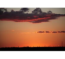 Sunset At Bonnie Doon Photographic Print