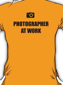 Photographer At Work - Light T-Shirt