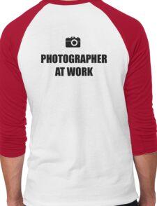 Photographer At Work - Light Men's Baseball ¾ T-Shirt