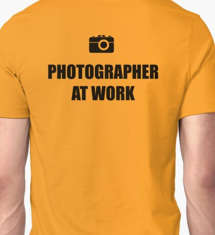 Photographer At Work - Light Unisex T-Shirt