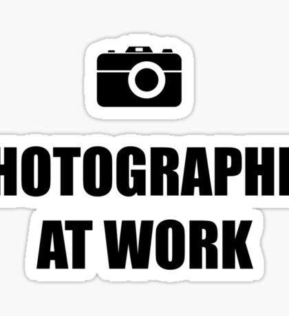 Photographer At Work - Light Sticker