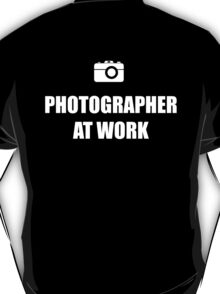 Photographer At Work - Dark T-Shirt