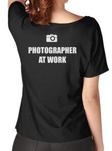 Photographer At Work - Dark Women's Relaxed Fit T-Shirt
