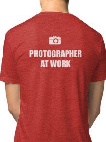 Photographer At Work - Dark Tri-blend T-Shirt