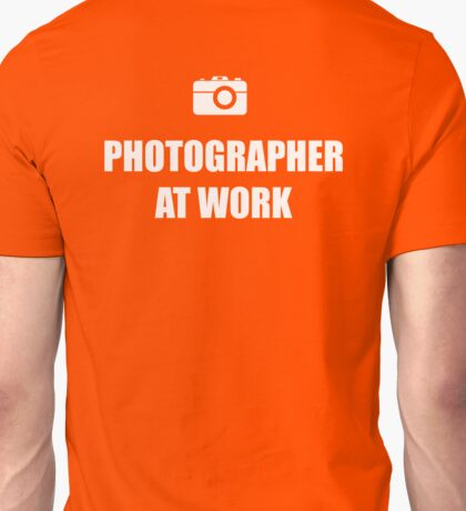 Photographer At Work - Dark Unisex T-Shirt
