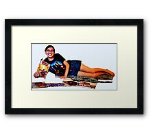 Geeky Pin-Up: Comic Book Girl Framed Print