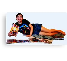 Geeky Pin-Up: Comic Book Girl Canvas Print
