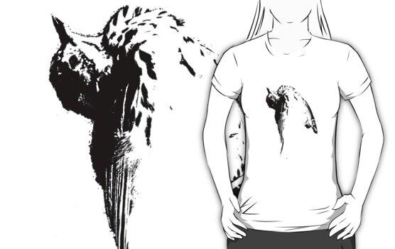 bird tee, dark version by Margaret Bryant