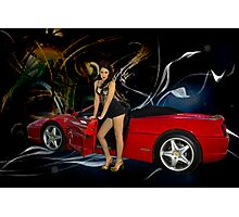 The Red Ferrari Photographic Print