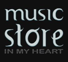Music Store In My Heart by Vidka Art