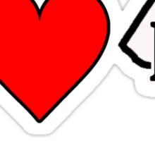 I LOVE DC Sticker