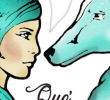 The Girl & The Wolf Sticker