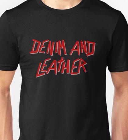 Denim and Leather Unisex T-Shirt