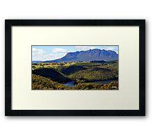 Australia,Tasmania, Mt Roland Framed Print