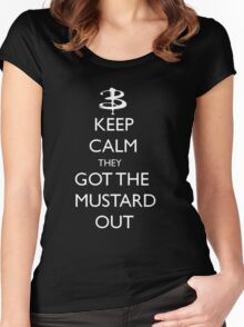They got the mustard out Women's Fitted Scoop T-Shirt