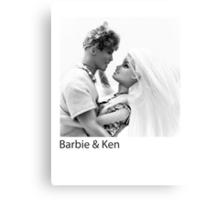 Barbie & Ken Canvas Print