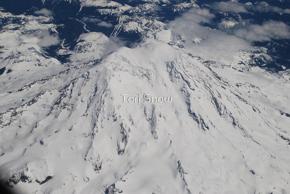 Mt. Rainier Fly Over by Tori Snow