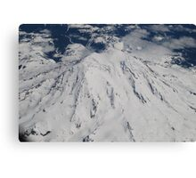 Mt. Rainier Fly Over Canvas Print