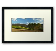 Yellow Field and Trees Framed Print