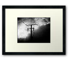 A worldwide balancing act Framed Print