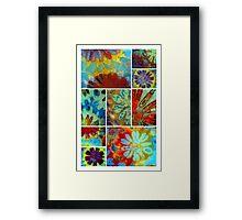 Ocean Flowers Framed Print