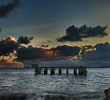 Sunset at South Gare by Mark White