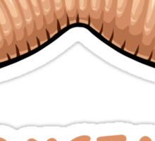 Wormstache Sticker