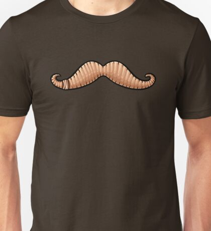 Wormstache (No Text) Unisex T-Shirt