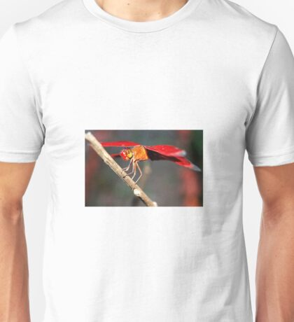 dragonfly perched under the scorching sun Unisex T-Shirt