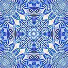 Woven Lu-Lu Rafna in blue by Jay Reed
