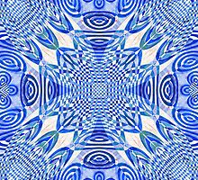 Woven Lu-Lu Rafna in blue by Jay Reed