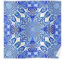 Woven Lu-Lu Rafna in blue Poster