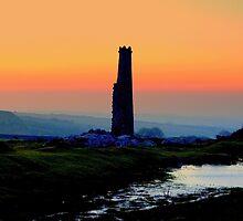 The Cornish Tin Mine at Dawn by Sarah Dawson-Spackman