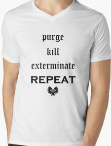 Purge-kill-exterminate black, Warhammer 40K Mens V-Neck T-Shirt