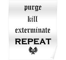 Purge-kill-exterminate black, Warhammer 40K Poster