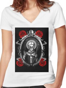 A Question of Faith Women's Fitted V-Neck T-Shirt